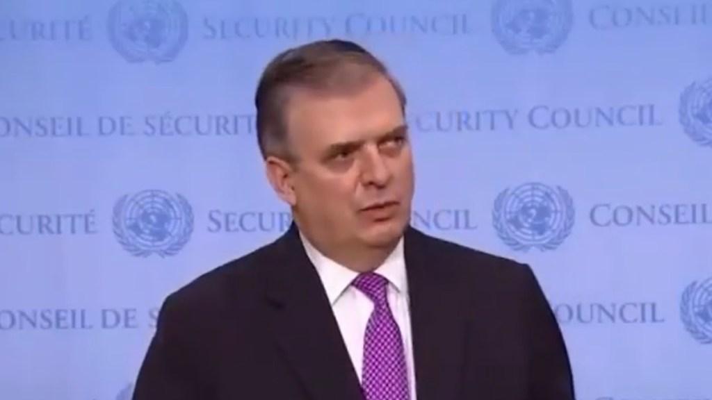 México condena bloqueo de EE.UU. a Cuba; lamenta impacto para conseguir medicamentos - Marcelo Ebrard tras participación en Consejo de Seguridad de la ONU. Captura de pantalla