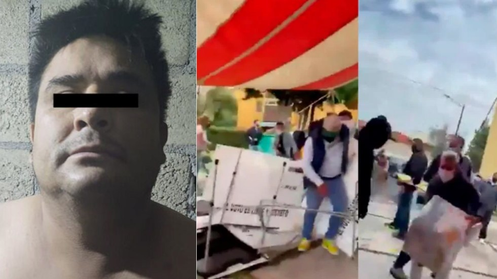 Detienen a 'El Barnie', presunto agresor de casilla electoral en Metepec - Metepec casilla golpeadores agresión ataque