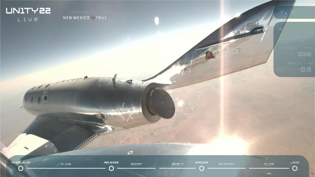 #Video Richard Branson inicia la era del turismo espacial con el primer vuelo de Virgin Galactic - Captura de pantalla