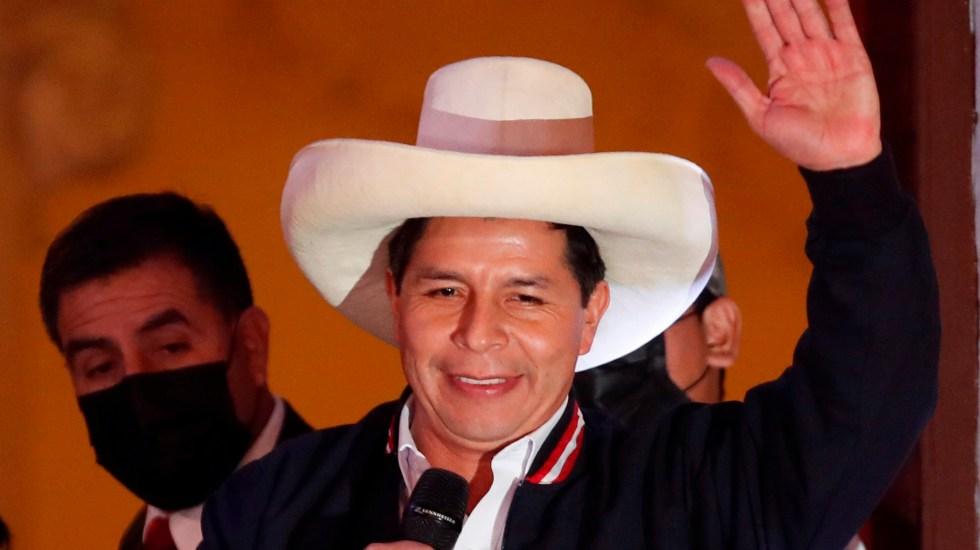 México felicita a Pedro Castillo y reitera hermandad con Perú - Pedro Castillo, presidente electo de Perú. Foto de EFE