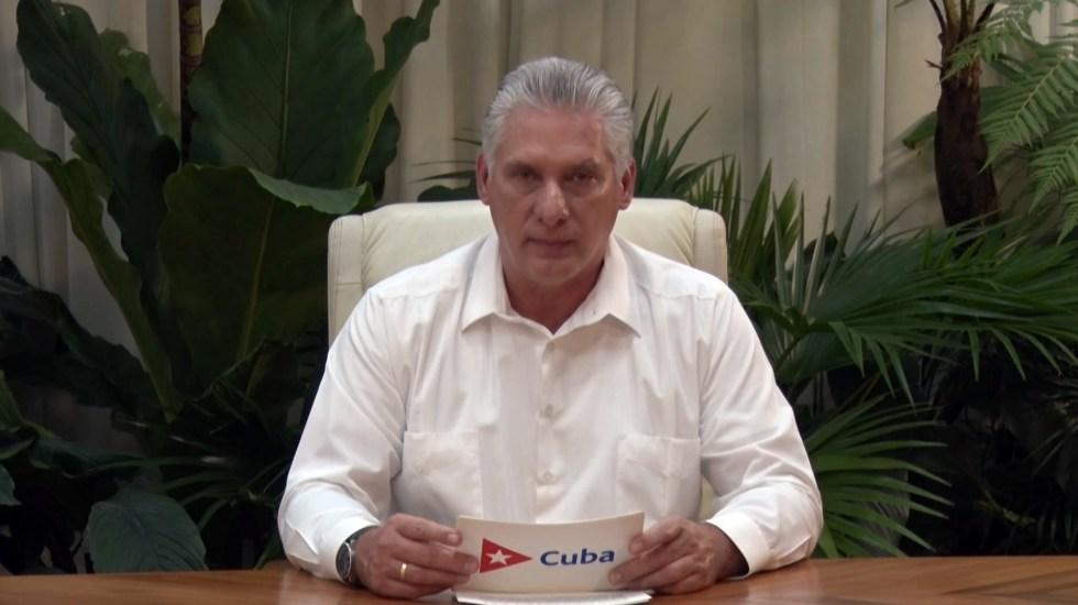 """Presidente de Cuba llama a partidarios a """"combatir"""" protestas - Presidente Cuba potestas Miguel Díaz Canel"""