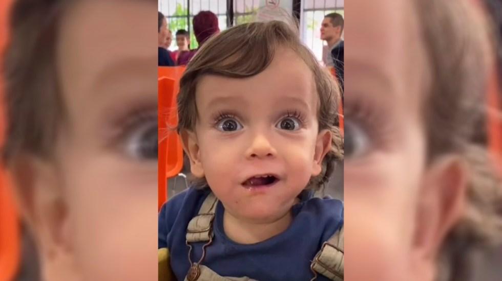 #Video La encantadora reacción de un bebé a su primer taco al pastor - Reacción de Lucas a su primer taco al pastor. Captura de pantalla
