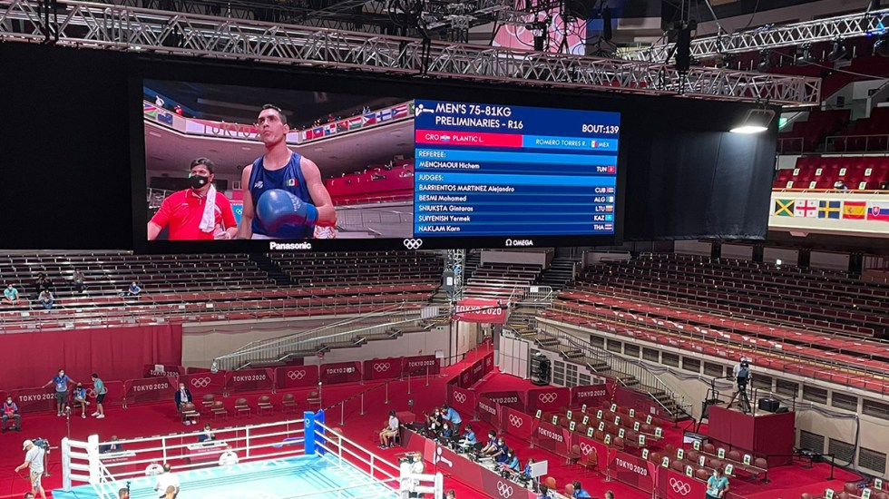 El mexicano Rogelio Romero avanza a cuartos de final en boxeo - Rogelio Romero en Juegos Olímpicos de Tokio. Foto de @CONADE