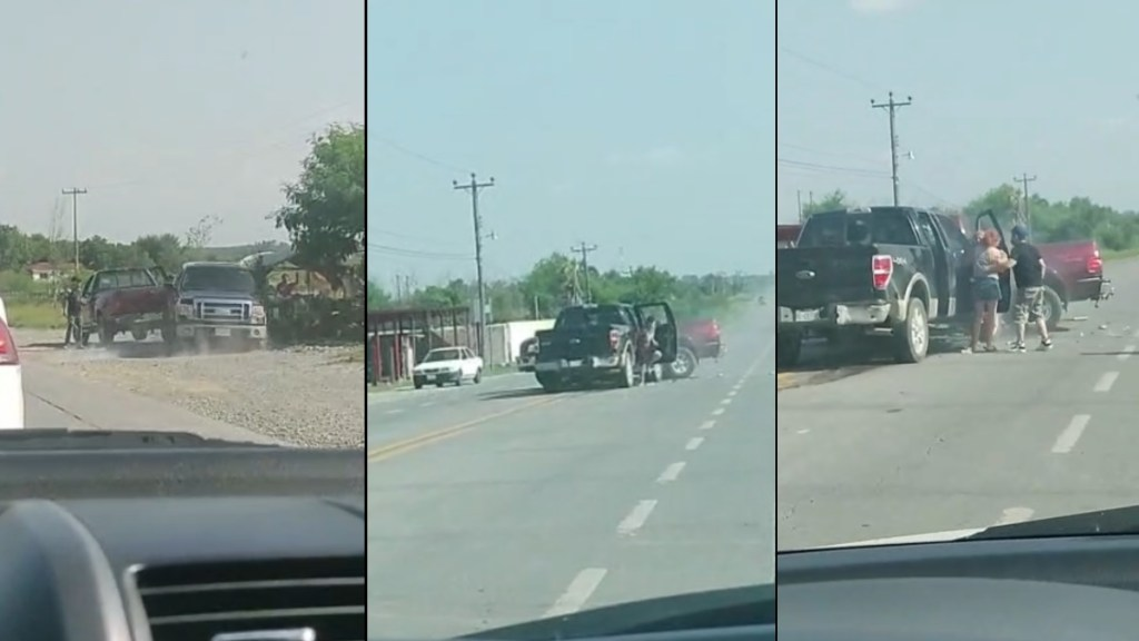 #Video Automovilista choca contra camioneta para evitar presunta agresión en Nuevo León - Accidente Cadereyta Allende Nuevo León 2