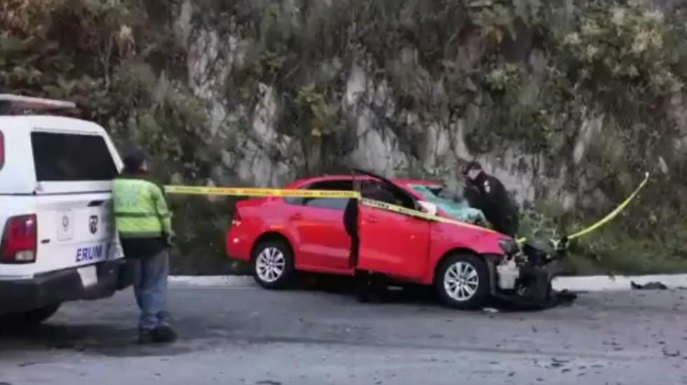 Accidente sobre la México-Cuernavaca deja un muerto y dos heridos - Accidente vial sobre la carretera México-Cuernavaca