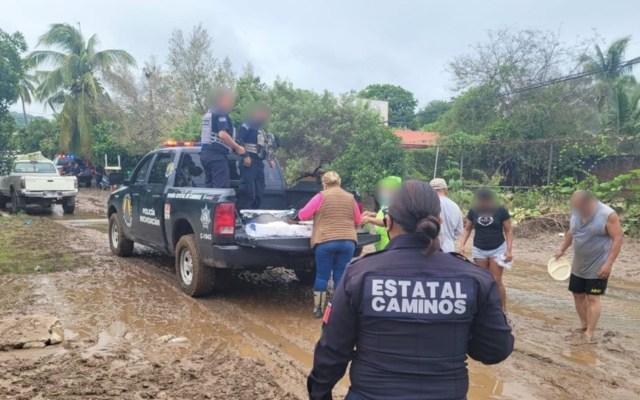 Michoacán con afectaciones tras paso de Nora; buscan declaratoria de emergencia - Michoacán con afectaciones tras paso de Nora; buscan declaratoria de emergencia. Foto de SSP Michoacán