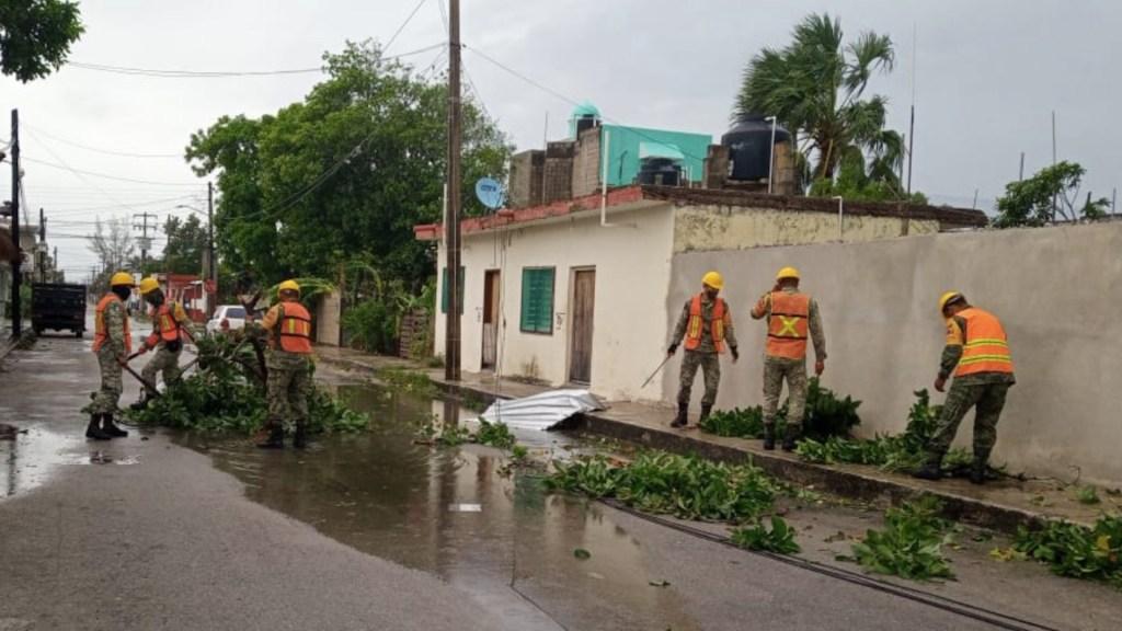 Declaran emergencia en 22 municipios de Veracruz por Grace - Emiten declaratoria de emergencia en 22 municipios de Veracruz por Grace. Foto de Sedena