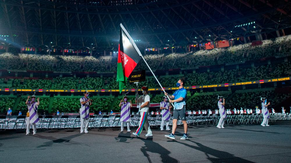 Afganistán bandera inauguración Paralímpicos Tokio 2020
