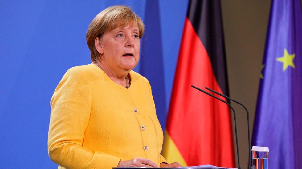 Merkel reconoce que Alemania se equivocó al evaluar la situación en Afganistán - Angela Merkel en conferencia de prensa sobre Afganistán