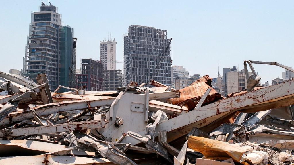 Un año después de la explosión de Beirut aún queda mucho por reconstruir - Beirut a un año de la explosión de toneladas de nitrato de amonio. Foto de EFE