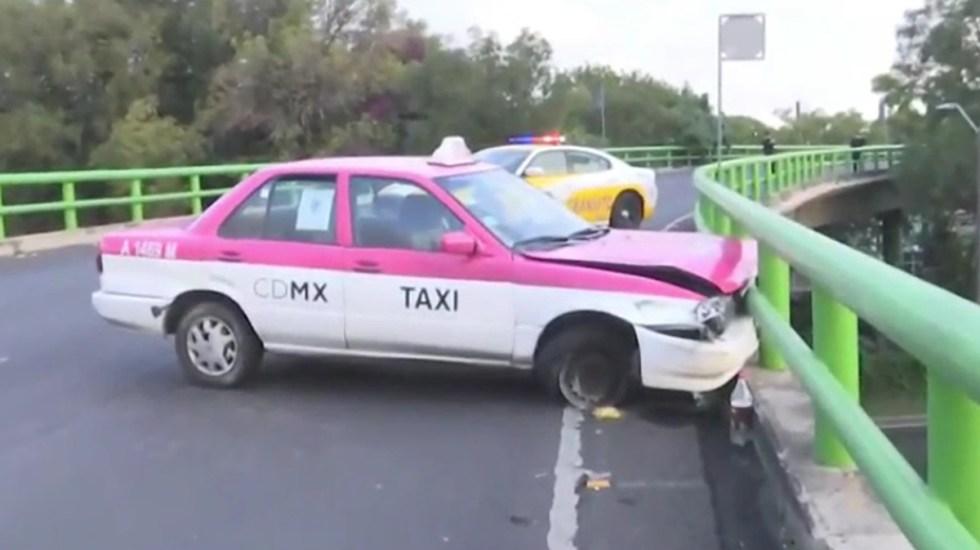 Choque de taxi en Coyoacán deja dos heridos - Choque de taxi en Av. División del Norte, Coyoacán