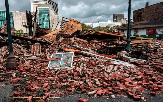 Aumentan a cuatro los muertos en Estados Unidos por el huracán Ida - Daños en Louisiana por paso del huracán Ida