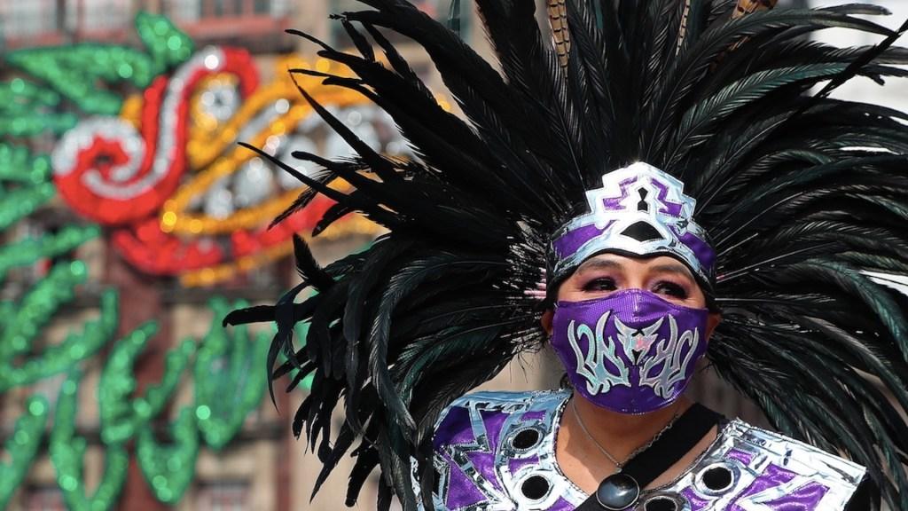 Danzantes conmemoran último día de libertad de pueblos originarios - Danzantes conmemoran último día de libertad de pueblos originarios. Foto de EFE