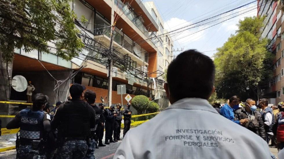 Inicia FGJ CDMX investigación por explosión de edificio en Benito Juárez - explosion edificio Acacias CDMX