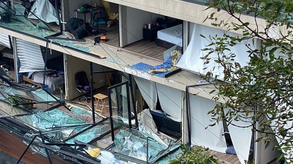 Una persona muerta tras explosión por gas en edificio de Benito Juárez - Explosión edificio Avenida Coyoacán