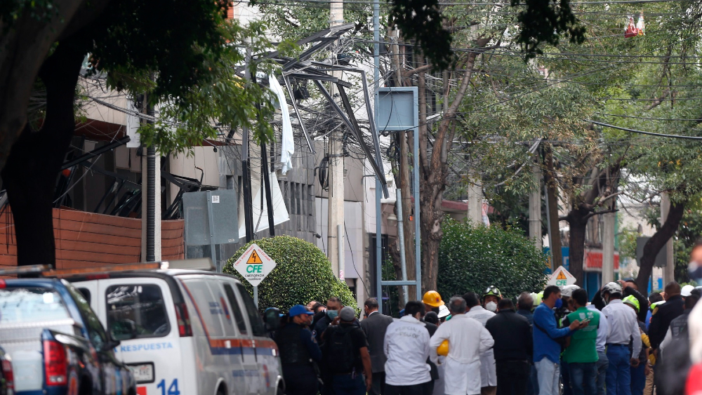 #Video Así fue el momento de la explosión de edificio en la Benito Juárez - explosión edificio gas Acacias CDMX