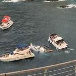 #Video Yate turístico se hunde en Acapulco