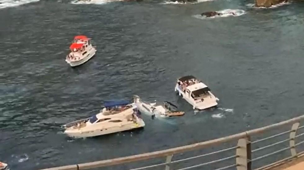 #Video Yate turístico se hunde en Acapulco - Hundimiento de yate turístico en Acapulco