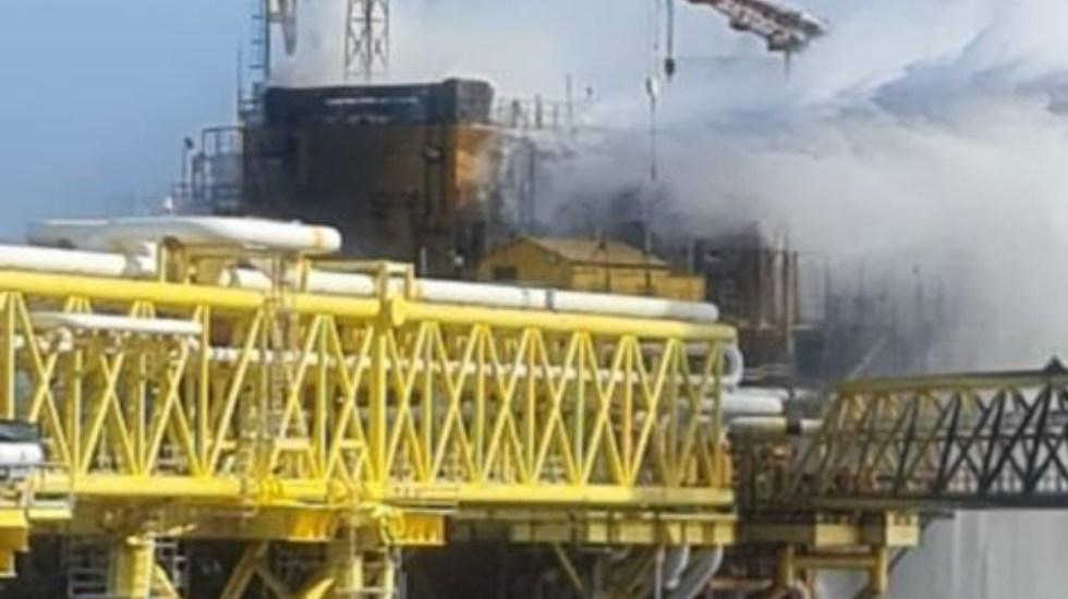 #Video Cinco heridos deja explosión en plataforma de Pemex en Campeche - Incendio Mexico veracrux