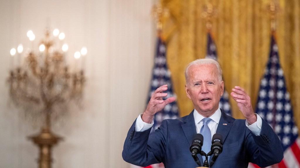 Biden elogia el liderazgo de España en apoyo de mujeres y niñas afganas - El presidente de Estados Unidos, Joe Biden. Afirma que habrá apoyo inmediato a Haití. Foto de EFE/ EPA/ SHAWN THEW.