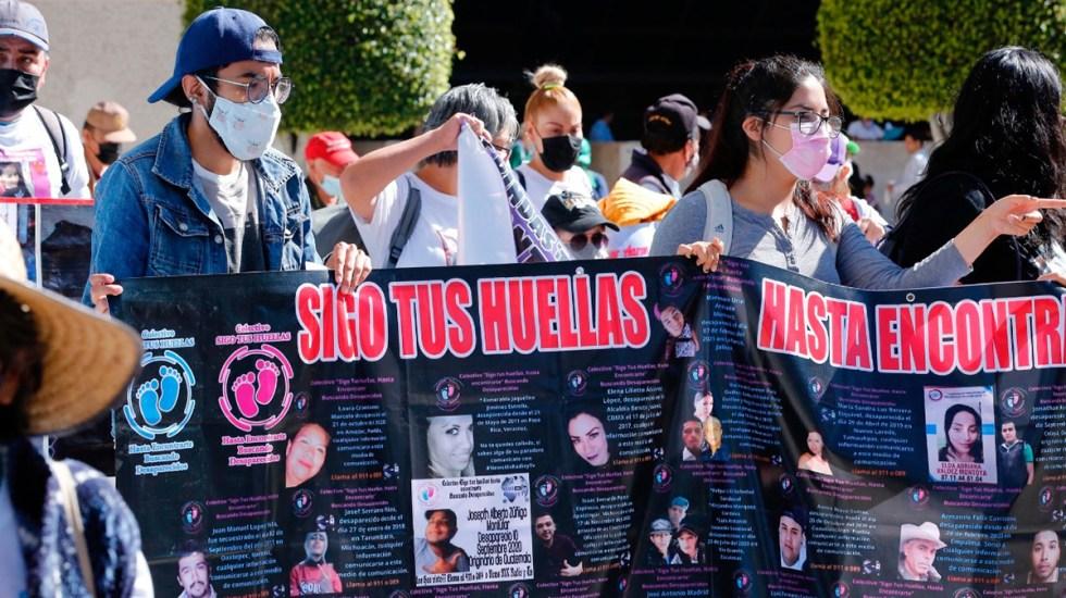 """ONU-DH pide a México garantizar la búsqueda """"efectiva"""" de personas desaparecidas - Manifestación en la CDMX en búsqueda de personas desaparecidas"""