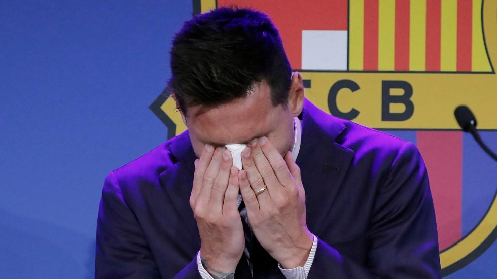 #Video Lionel Messi rompe en llanto al despedirse del Barcelona - Lionel Messi llora