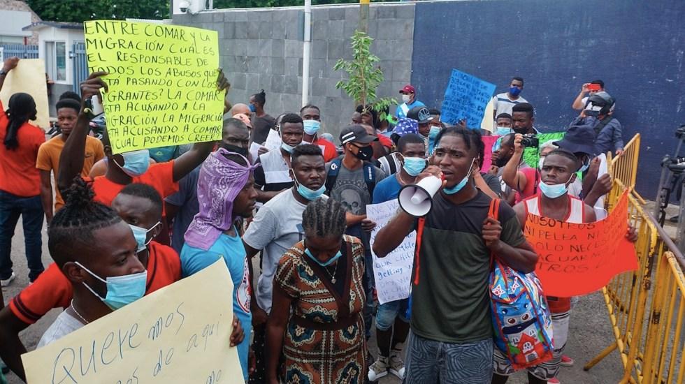 Migrantes suman tres días de protestas en Chiapas - Migrantes suman tres días de protestas en Chiapas. Foto de EFE
