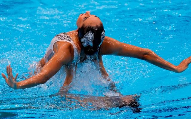 Diosdado y Jiménez mantienen vivas sus opciones de acceder a la final de natación artística - Nuria Diosdado y Joana Jiménez en preliminares de natación artística