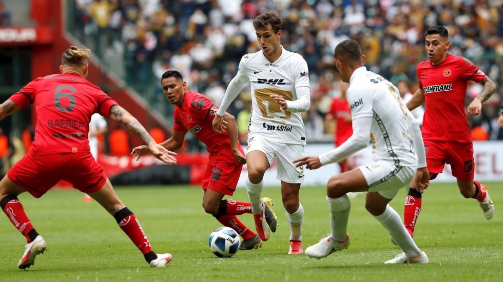 Toluca derrota 2-1 a Pumas y salta al tercer sitio de la tabla - Pumas Toluca partido 2