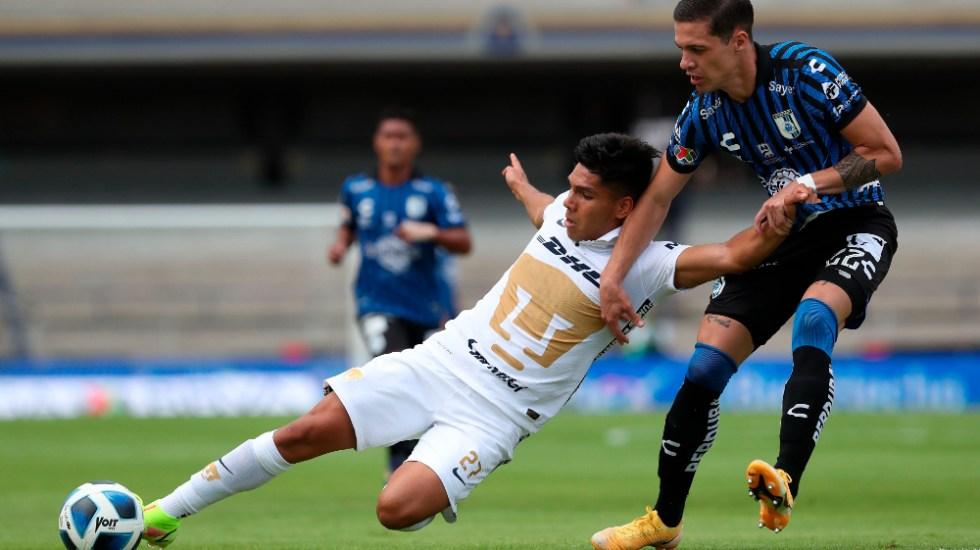 Pumas y Gallos Blancos empatan sin anotaciones en C.U. - Pumas UNAM Gallos Querétaro