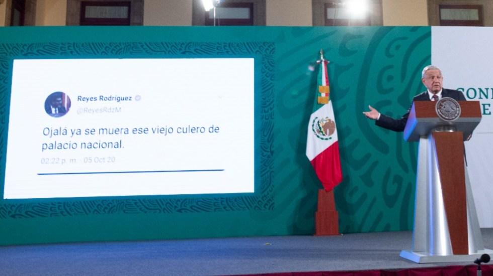 """""""Falso"""" tuit donde presuntamente insulta a AMLO, aclara Reyes Rodríguez; ya presentó denuncia ante FGR - Reyes Mondragón tuit AMLO"""