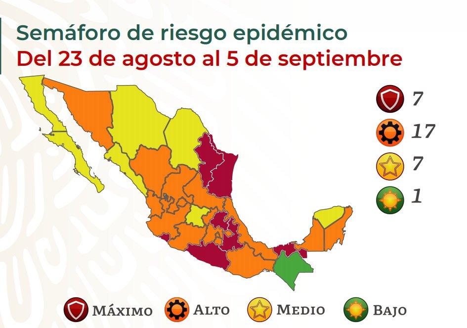 Gráfico de la Secretaría de Salud