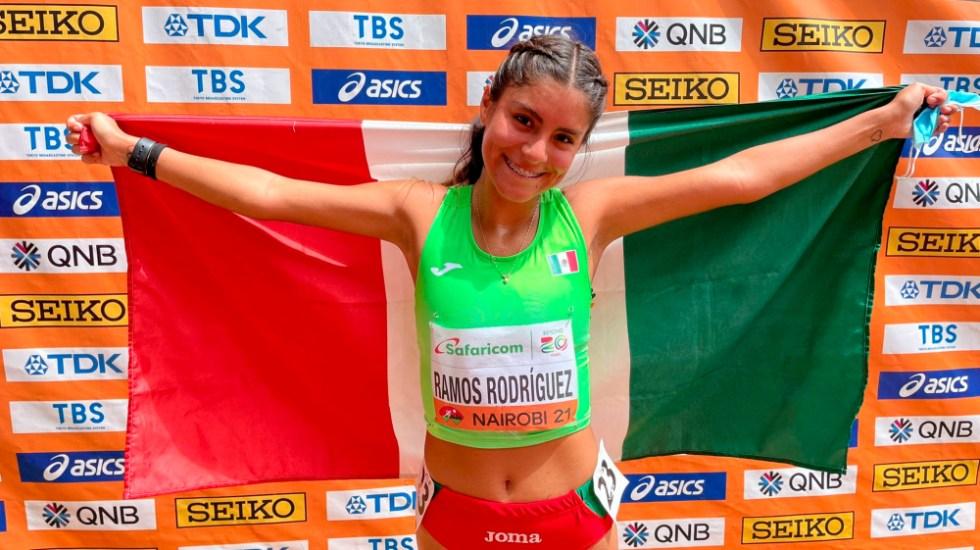 Sofía Ramos, campeona mundial Sub 20 en los 10 mil metros - Sofia Ramos marcha caminata