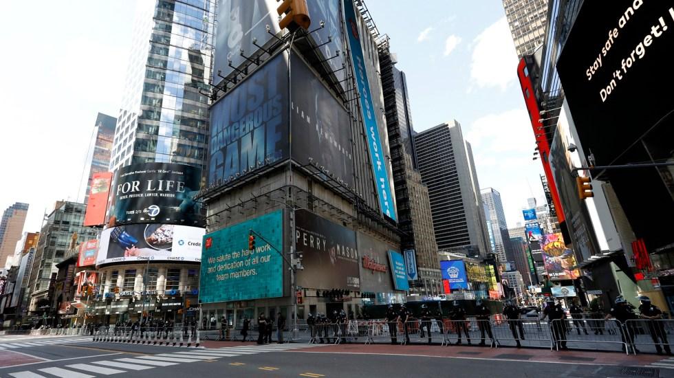 Desalojan Times Square por paquete sospechoso; resultó falsa amenaza - Vista de Times Square, en Nueva York