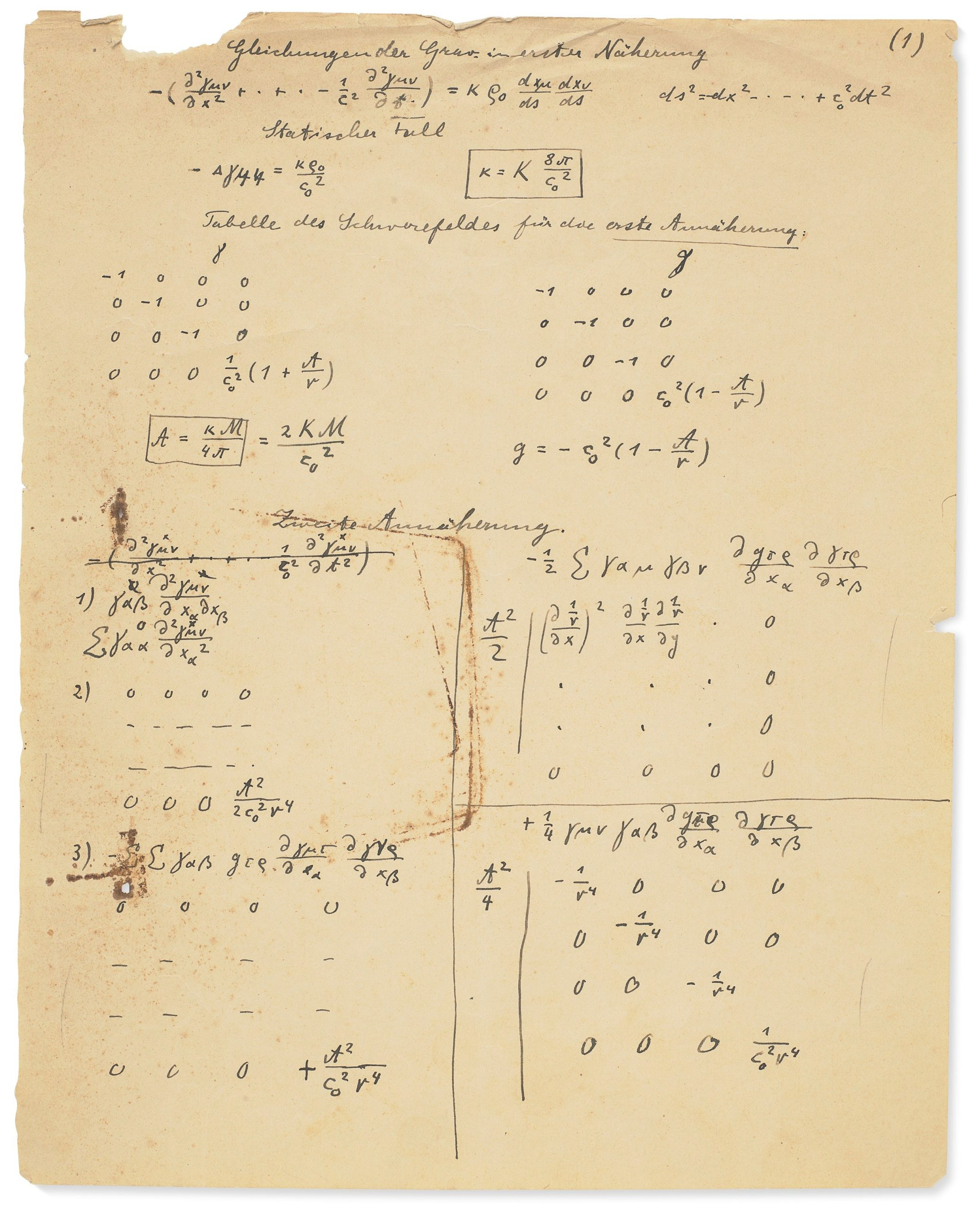 Einstein manuscrito subasta teoría relatividad 2