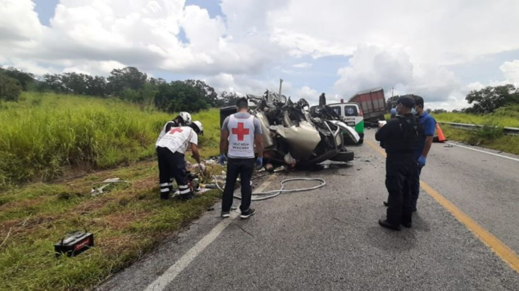 Accidente carretero en Aldama, Tamaulipas, deja cuatro muertos - Accidente Carretero Aldama Tamaulipas