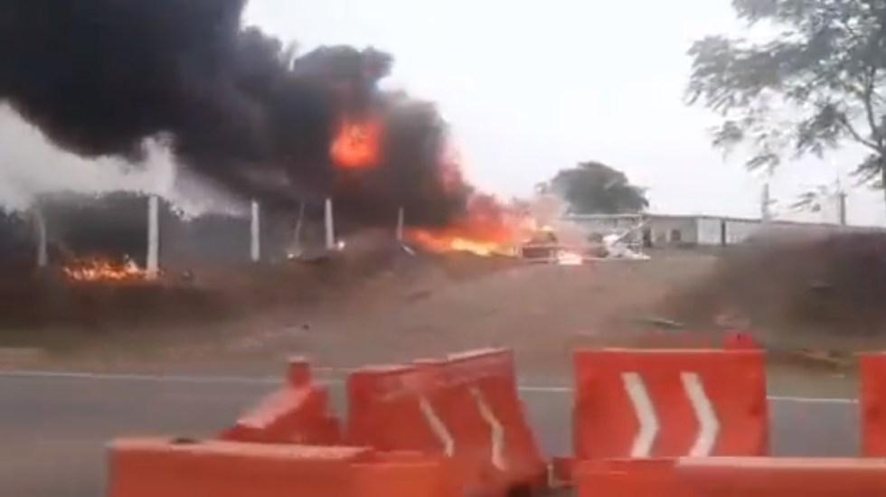 Se estrella aeronave en Veracruz; muere el piloto - Aeronave avión pequeño Martínez de la Torre Veracruz
