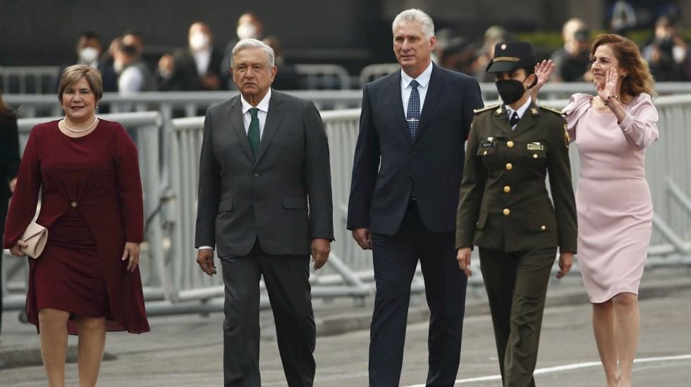 López Obrador y Díaz-Canel se reúnen en Palacio Nacional - AMLO López Obrador Cuba presidente