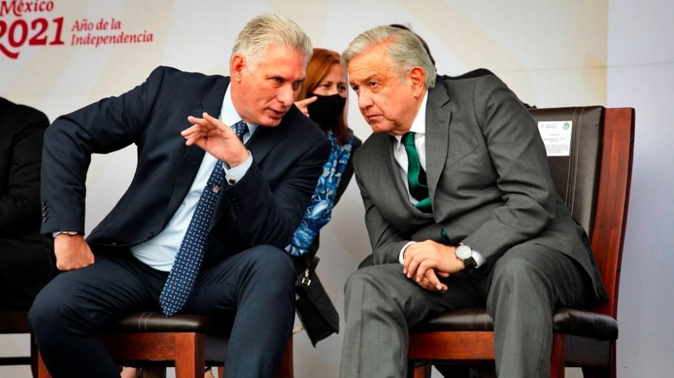 López Obrador desestima confrontación con EE.UU. por visita de Díaz-Canel a México - AMLO López Obrador Miguel Díaz Canel