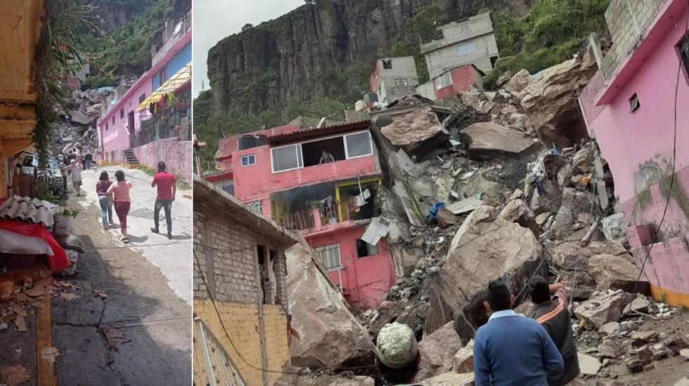 #Videos Al menos un muerto y un lesionado tras derrumbe en el cerro del Chiquihuite - chiquihuite Cerro del Chiquihuite Tlalnepantla Estado de México