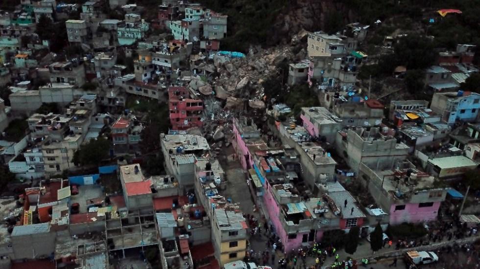 AMLO ofrece casas a habitantes en zona de riesgo del Cerro del Chiquihuite - Chiquihuite derrumbe casas Tlalnepantla