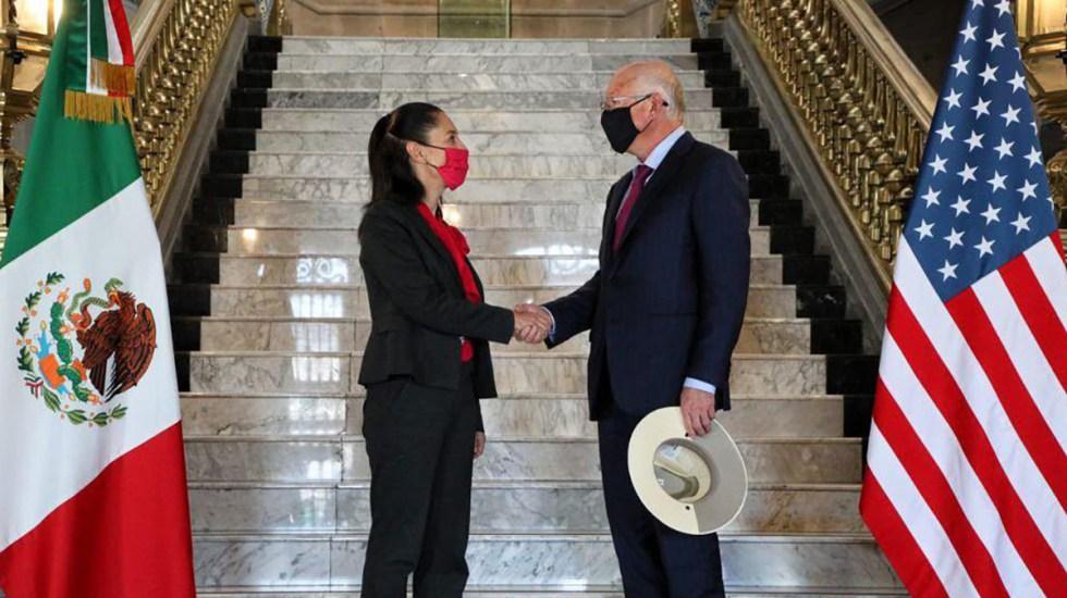 Embajador de EE.UU. dialoga con Sheinbaum sobre seguridad y economía - Claudia Sheinbaum con el embajador Ken Salazar