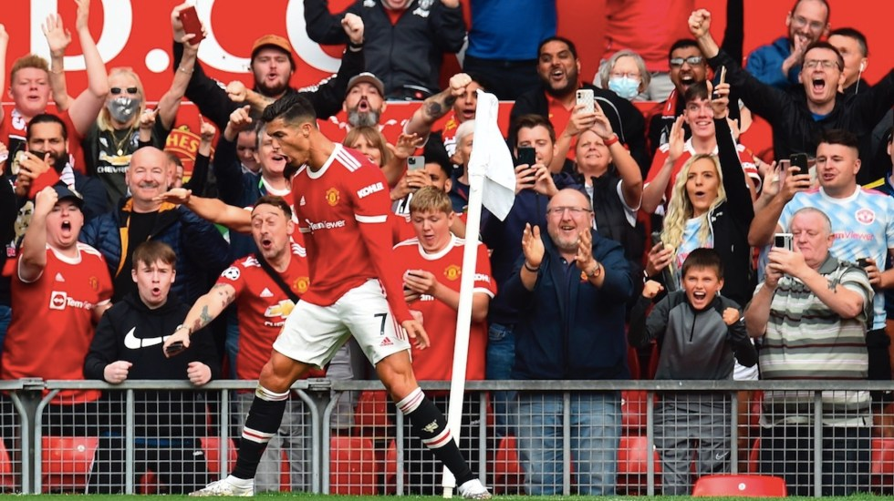 Cristiano Ronaldo regresa al Manchester United con doblete - Cristiano Ronaldo regresa al Manchester United con doblete. Foto de EFE