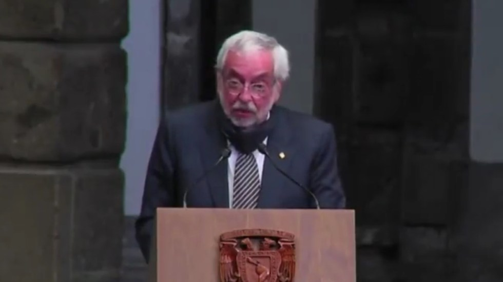 Rector Enrique Graue califica de 'inconcebible' acusaciones contra científicos de Conacyt - Enrique Graue, rector de la UNAM. Captura de pantalla