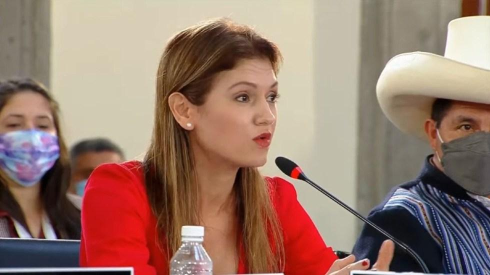 """""""En esta mesa faltan más mujeres"""", reclama canciller de Panamá en la CELAC - Erika Mouynes Panamá Celac mujeres"""
