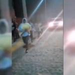#Video Huyen en San Felipe, Guanajuato, tras falso rumor de rotura de presa por sismo