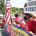 """""""¡Sí se puede!"""", el alarido de cientos de migrantes ante el Congreso de EE.UU."""