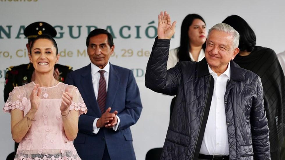"López Obrador afirma que la CDMX está ""bien gobernada"" por Claudia Sheinbaum - López Obrador y Claudia Sheinbaum en acto oficial"