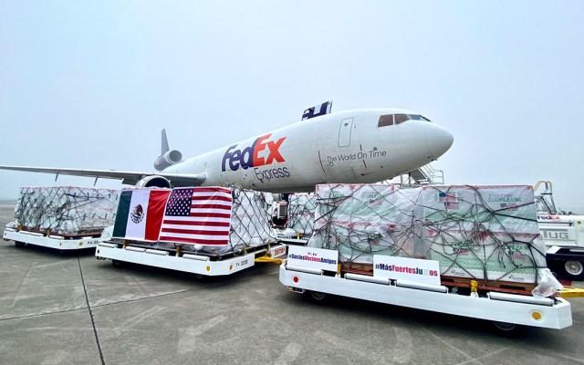 Llega a México segundo lote de 1.75 millones de vacunas de Moderna donadas por EE.UU. - Lote de vacunas de Moderna donado por Estados Unidos