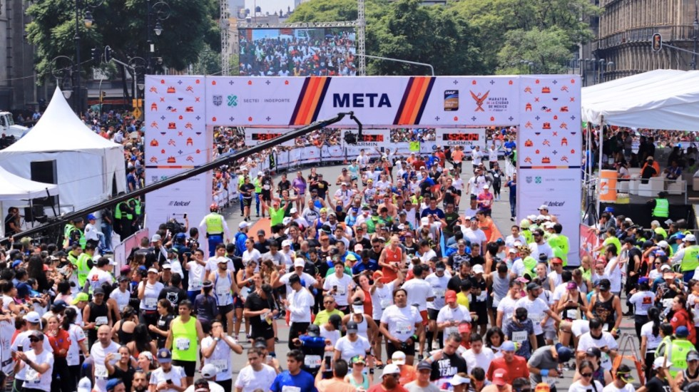 Maratón de la Ciudad de México reunirá a más de 20 mil competidores - Maratón de la Ciudad de México reunirá a más de 20 mil competidores. Foto de Maratón de la Ciudad de México